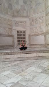 Meditation at the Taj Mahal