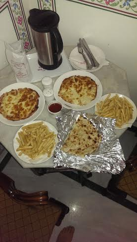 Carb overload ... we were craving American food .. with a side a naan