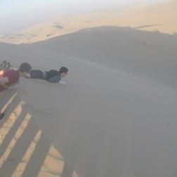 Sand boarding.